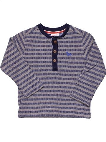 Long sleeve polo shirt boy MINI CLUB gray 3 years winter #8078_1