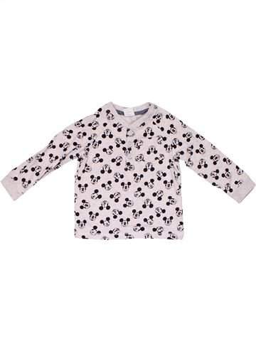 Long sleeve T-shirt boy DISNEY BABY white 12 months winter #8541_1