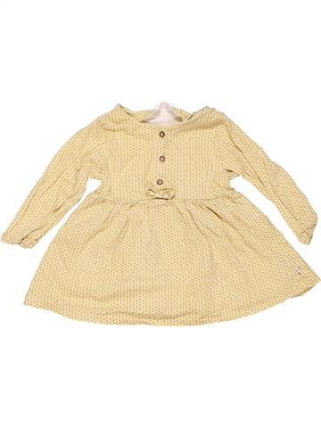 Dress girl NEXT BABY yellow 9 months winter #9366_1