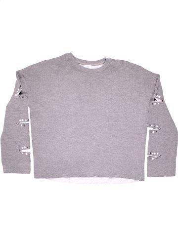 Sweatshirt girl RIVER ISLAND gray 10 years winter #9400_1