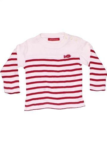 Long sleeve T-shirt girl WEEK END A LA MER red 6 months winter #9563_1
