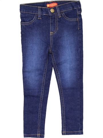 Jeans girl APLLE BOTTOMS blue 3 years winter #9669_1
