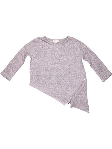 Long sleeve blouse girl RIVER ISLAND gray 4 years winter #9783_1